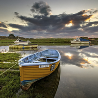 Buy canvas prints of Old salmon Boat by Dave Wilkinson  North Devon Photography