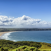 Buy canvas prints of Woolacombe Bay by Dave Wilkinson  North Devon Photography