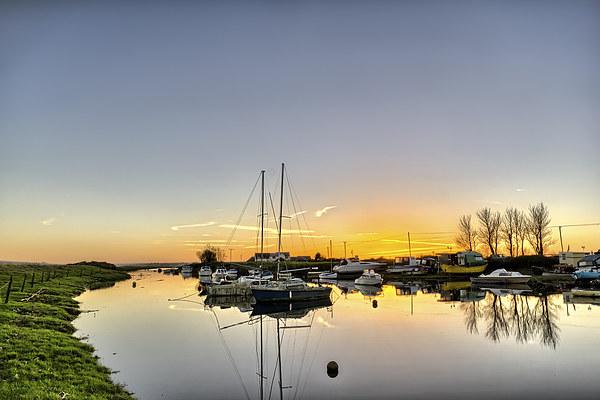 Velator sunset, North Devon Canvas print by Dave Wilkinson  North Devon Photography