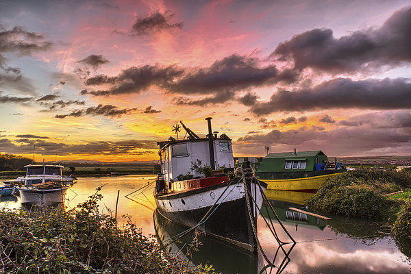 Houseboats on Velator Quay Canvas print by Dave Wilkinson  North Devon Photography