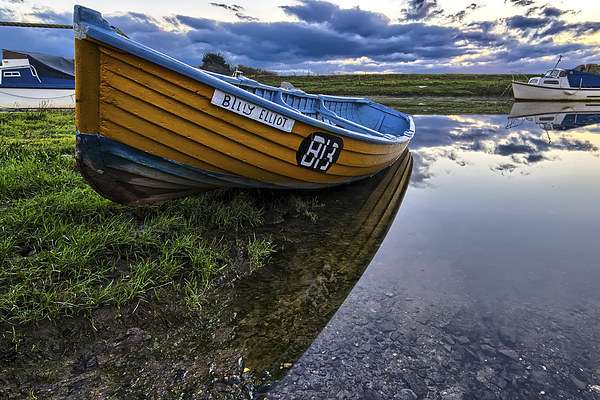 Old clinker built salmon boat Canvas print by Dave Wilkinson  North Devon Photography