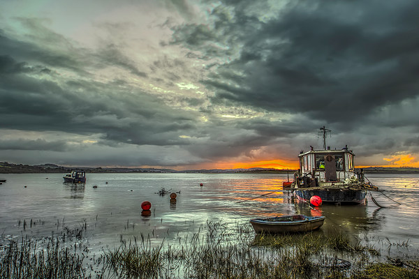 Houseboat on the River Taw Canvas print by Dave Wilkinson  North Devon Photography