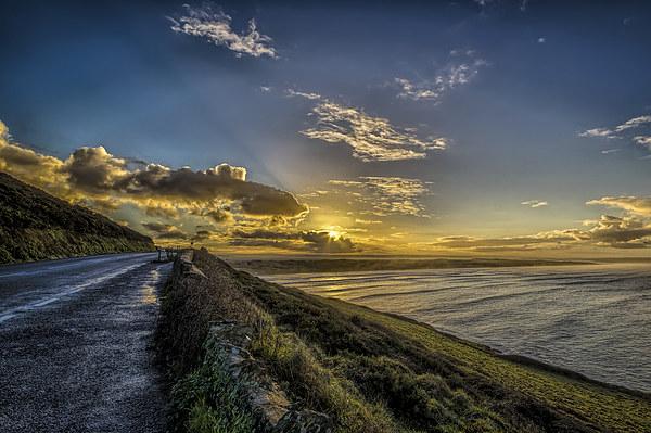 Saunton Sands sunrise Canvas print by Dave Wilkinson  North Devon Photography