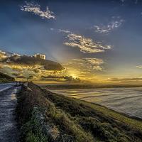Buy canvas prints of Saunton Sands sunrise by Dave Wilkinson  North Devon Photography