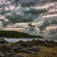 Buy canvas prints of Putsborough Sands by Dave Wilkinson  North Devon Photography