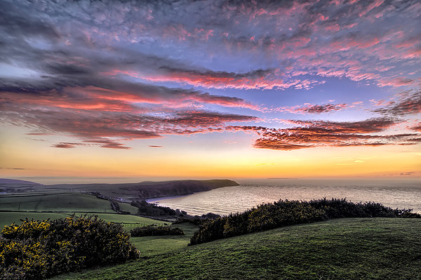 Baggy Point sunset Canvas print by Dave Wilkinson  North Devon Photography