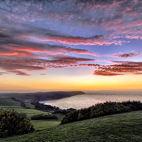 Buy canvas prints of Baggy Point sunset by Dave Wilkinson  North Devon Photography