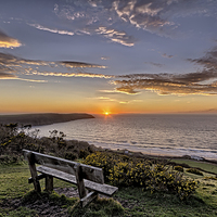 Buy canvas prints of Woolacombe Bay sunset by Dave Wilkinson  North Devon Photography