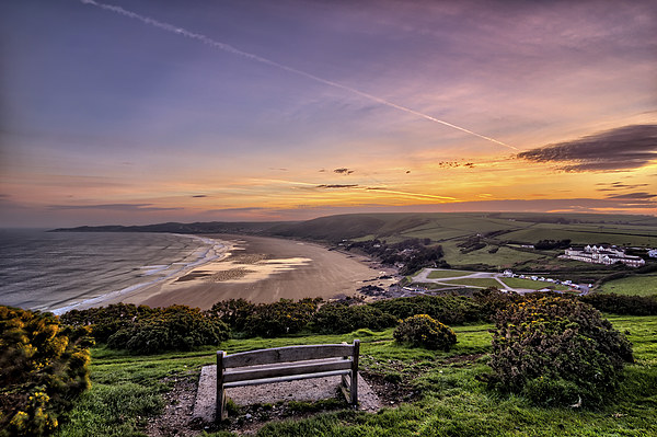 Woolacombe Bay sunrise Canvas print by Dave Wilkinson  North Devon Photography