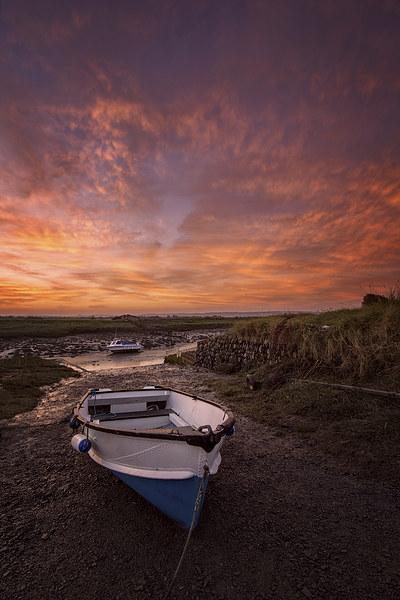 Velatror Quay sunrise Canvas print by Dave Wilkinson  North Devon Photography