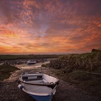 Buy canvas prints of  Velatror Quay sunrise by Dave Wilkinson  North Devon Photography
