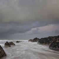 Buy canvas prints of   Croyde Bay Rocks by Dave Wilkinson North Devon Ph