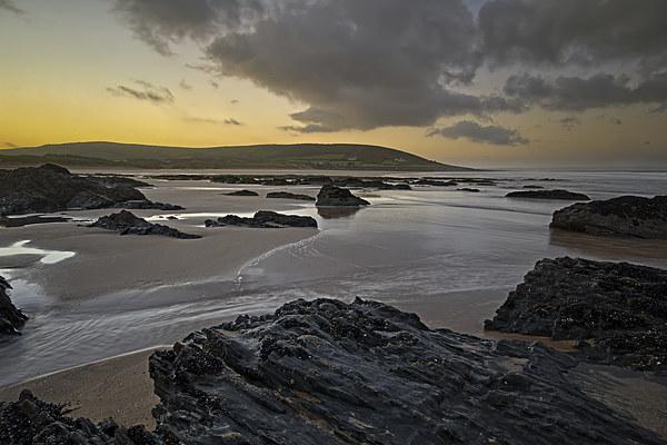 Croyde Bay sunrise Canvas Print by Dave Wilkinson North Devon Ph