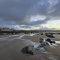 Buy canvas prints of  Early morning at Croyde Bay by Dave Wilkinson North Devon Ph