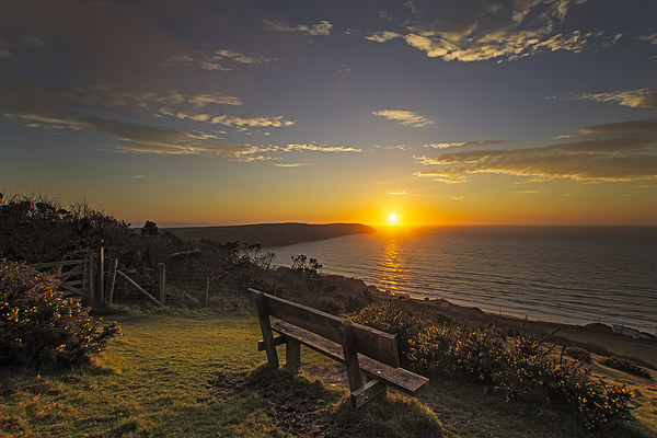 Baggy Point sunset Canvas print by Dave Wilkinson North Devon Ph