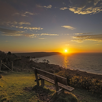 Buy canvas prints of Baggy Point sunset by Dave Wilkinson North Devon Ph