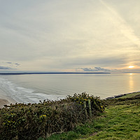 Buy canvas prints of Saunton Sands sunset by Dave Wilkinson North Devon Ph