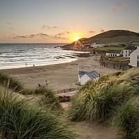 Buy canvas prints of Croyde Bay North Devon. by Dave Wilkinson North Devon Ph