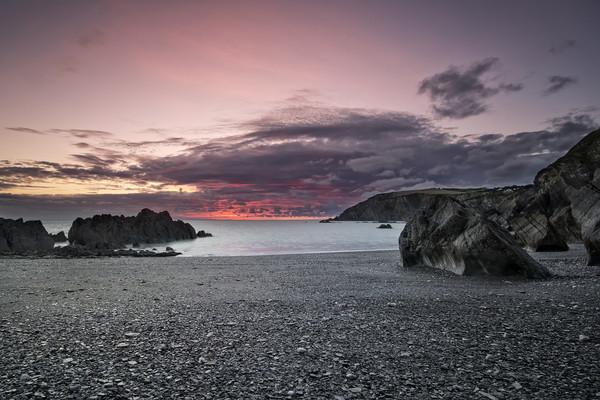 Sandy Cove, North Devon Canvas print by Dave Wilkinson North Devon Ph