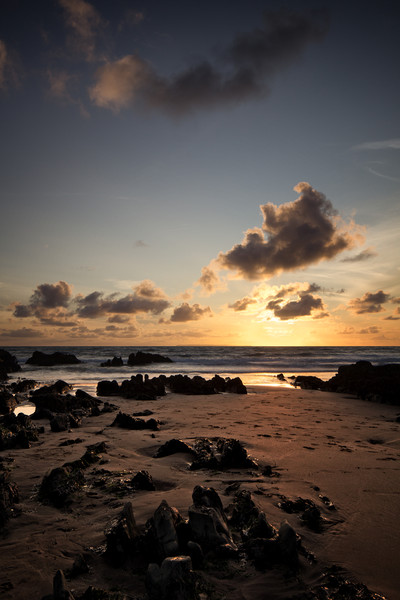 Down End Croyde Bay sunset Canvas Print by Dave Wilkinson North Devon Ph