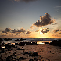 Buy canvas prints of Down End Croyde Bay sunset by Dave Wilkinson North Devon Ph