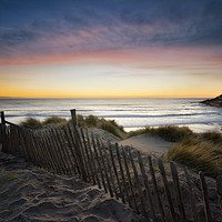 Buy canvas prints of  Croyde Bay Sunset by Dave Wilkinson North Devon Ph