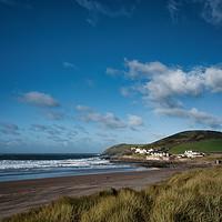 Buy canvas prints of Surfs up Croyde Bay, North Devon. by Dave Wilkinson North Devon Ph