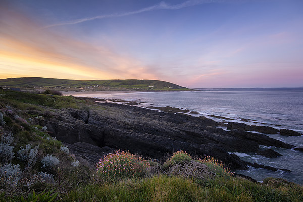 Croyde Bay sunrise Canvas print by Dave Wilkinson North Devon Ph