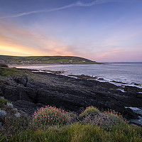 Buy canvas prints of Croyde Bay sunrise by Dave Wilkinson North Devon Ph