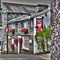 Buy canvas prints of Sheila's Cottage, Ambleside, Lake District. by Rick Parrott