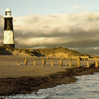 Buy canvas prints of Spurn Point Lighthouse by Rick Parrott