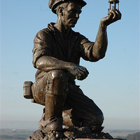 Buy canvas prints of The Coal Miner by Barry Lowe