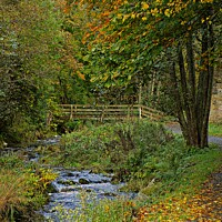 Buy canvas prints of The old bridge in Autumn by Colin Chipp