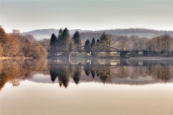 Loch Ken Viaduct Canvas print by Derek Beattie