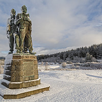 Buy canvas prints of Commando Memorial at Spean Bridge by Derek Beattie
