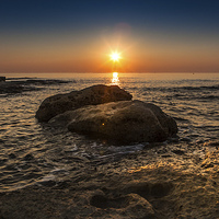 Buy canvas prints of  Sunrise Rock by William Attard McCarthy