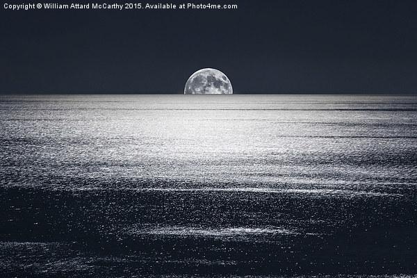 Peek-a-Boo-Moon Canvas print by William Attard McCarthy