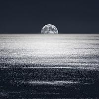 Buy canvas prints of Peek-a-Boo-Moon by William Attard McCarthy
