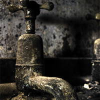 Buy canvas prints of Old Bathroom Tap by William Attard McCarthy