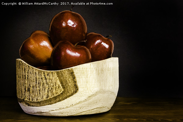 Apple Bowl Canvas print by William AttardMcCarthy