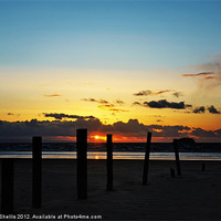 Buy canvas prints of Sunset beach by Carl Shellis