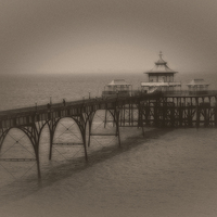 Buy canvas prints of Clevedon pier by Carl Shellis