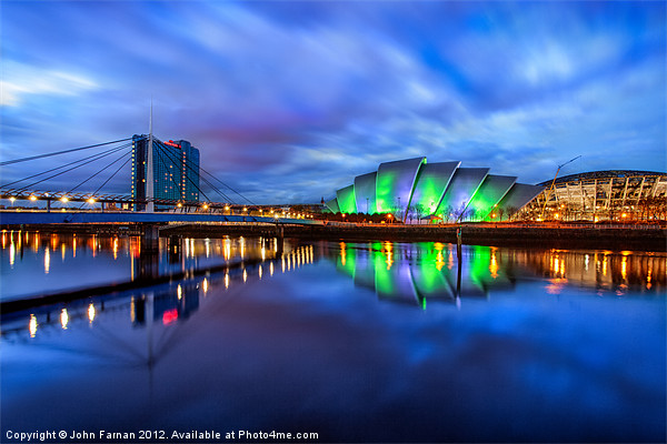 Canvas print Scotland Armadillo and Crowne Plaza Canvas print by Fine Art by John Farnan
