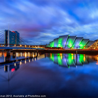 Buy canvas prints of Canvas print Scotland Armadillo and Crowne Plaza by Fine Art by John Farnan