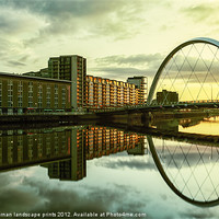 Buy canvas prints of Clyde Arc at sunrise by Fine Art by John Farnan