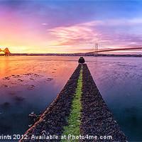 Buy canvas prints of Both Forth Bridges at Dawn by Fine Art by John Farnan