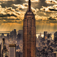Buy canvas prints of Empire state building by Fine Art by John Farnan