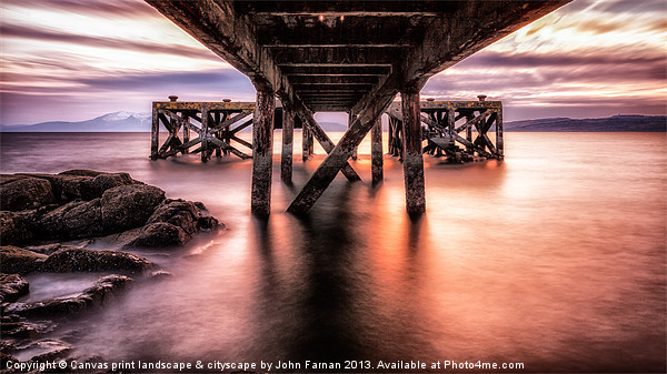 Under the Jetty Canvas print by Fine Art by John Farnan
