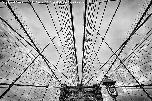 Brooklyn Bridge Canvas print by Fine Art by John Farnan