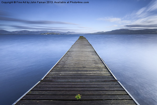 Cruin Jetty Loch Lomond Canvas print by Fine Art by John Farnan